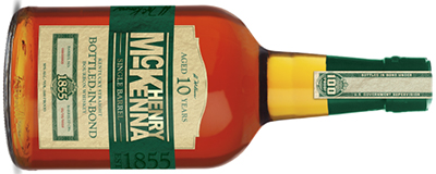 Henry McKenna Single Barrel Bourbon Whiskey.
