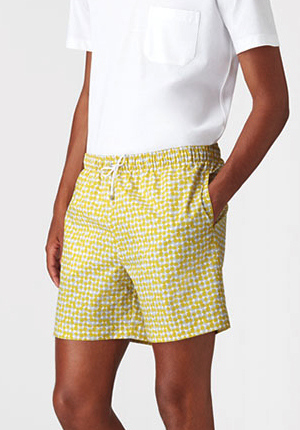 Hermès long swim trunks in '3D Cube' print: US$450.