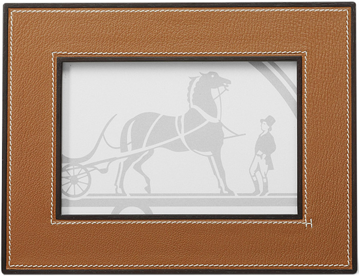 Hermès leather picture frames in goatskin.