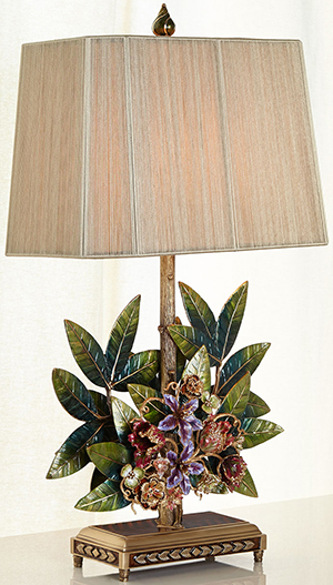 Horchow Jay Strongwater Bouquet & Leaf Lamp: US$6,000.