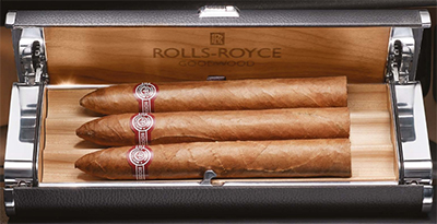 Rolls-Royce Humidor in Glove Box.