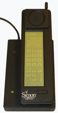 IBM Simon smartphone (1994-1995). Photo by by Bcos47.