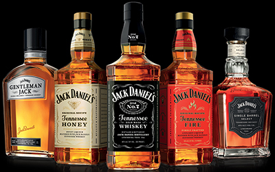 Jack Daniel's whiskeys.
