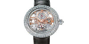 World's Most Expensive Watch #26: Jacob & Co. Crystal Tourbillon watch. The 18 carat white gold case of the Crystal Tourbillion is covered in 17.48 carats of baguette diamonds and has a transparent skeleton tourbillon dial. Price: US$900,000.