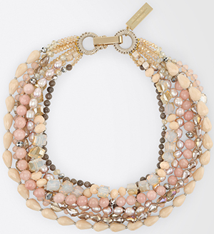Max Mara Pearl & rhinestone multi-strand necklace: US$165.