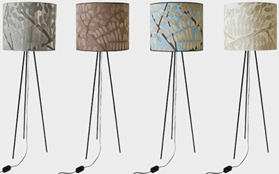 Jocelyn Warner Tree Tops floor lamps.