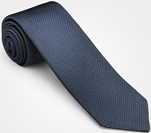 John Lobb 100% silk tie woven in England with an embroidered stitch design: US$205.