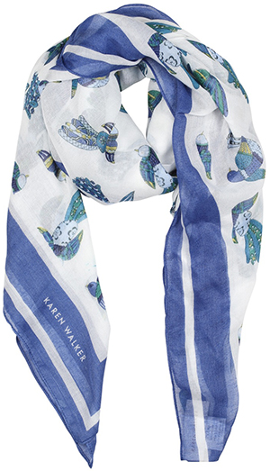 Karen Walker women's Bird scarf: US$52.