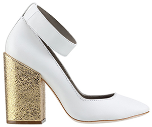 Karen Walker women's Dali Heels Off White shoe: US$299.
