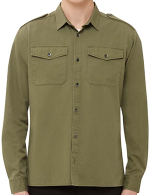 Kent & Curwen men's military shirt: £175.