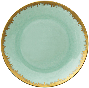Kim Seybert Aura Charge in Sea Glass with Gold Brushstroke: US$198.