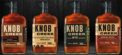 Knob Creek whiskeys.