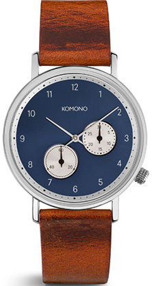 Komono The Walther Cognac men's watch: US$179.95.