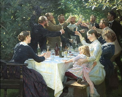 Hip, Hip, Hurrah! (1888) by P. S. Krøyer.