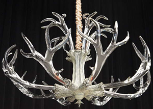Crystal Antler Chandelier by Jason Lawson.