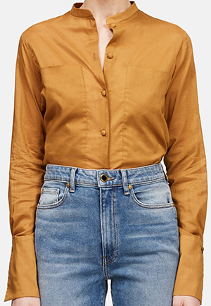 The Line Martin Grant Shirt with Extended Pockets - Caramel: US$1,080.