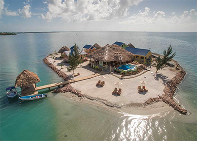 Private Islands Online: Little Harvest Caye (Belize, Central America).