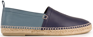 Loewe Men's Bicolor Espadrille Navy/Stone Blue: US$450.
