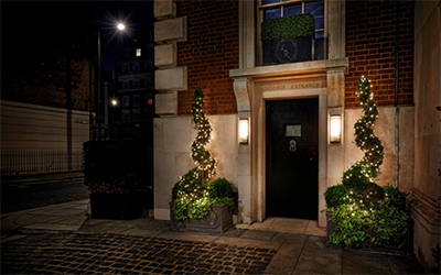 The Luggage Room, On the Corner, Grosvenor Square, Mayfair.