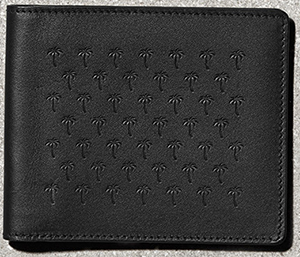 Tomas Maier palm embossed men's wallet: US$220.