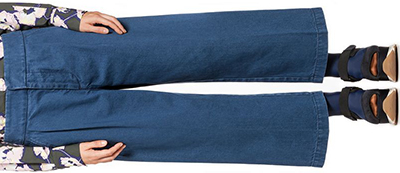 Marni women's pants in blue indigo cotton denim: US$670.