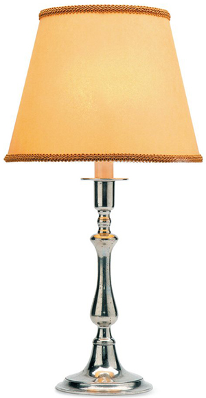 Match Pewter Toscana Table Lamp with Raw Silk Shade: US$454.