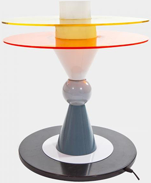Memphis Milano Bay table lamp designed by Ettore Sottsass.