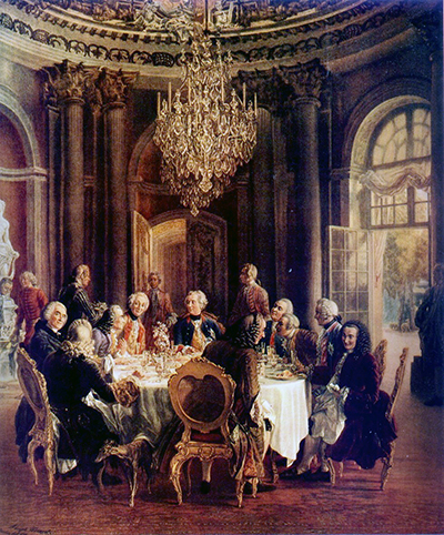 La Salle Ronde (1850) by Adolph Menzel.