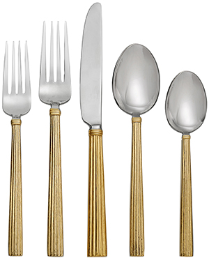 Michael Aram Wheat Gold 5-Piece Flatware Set: US$110.