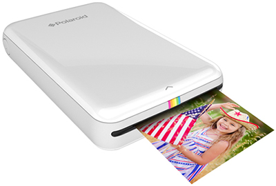 Polaroid ZIP Mobile Printer w/ZINK Zero Ink Printing Technology - Compatible w/iOS & Android Devices - White: US$125.