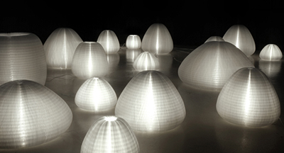 Molo Design Urchin softlight lamps.