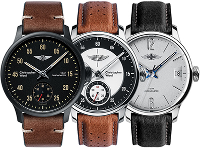 Christopher Ward C1 Morgan Chronometers.