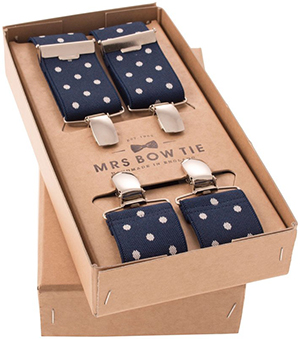 Mrs Bow Tie Broxton in French Navy Braces: US$31.69.
