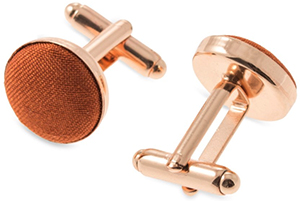 Mrs Bow Tie Faux Silk in Copper Cufflinks: US$36.76.