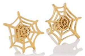 Charlotte Olympia Spider Web earrings: US$145.
