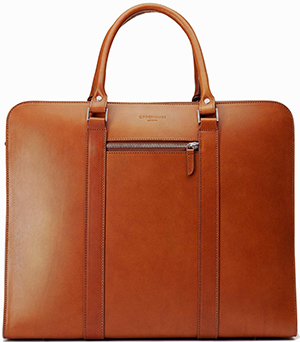 Carl Friedrik Palissy 25-hour Large leather briefcase: £445.
