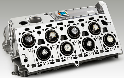 Origintimes combination of a BUGATTI 'Veyron' motor block with 16 winder modules.