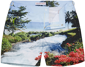Orlebar Brown Bulldog Sea Side Rapids Mid-Length Tailored Swim Short: £225.