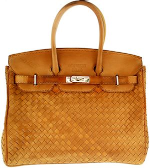 Oscar William Business & Special Events Camel / Tan Handcrafted Full Woven Luxury Ladies Bag: £695.