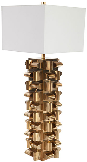 Phillips Collection Arete Table Lamp Plated Brass Finish, SM.