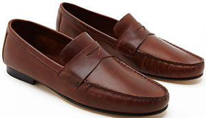 La Portegna Marco men's leather moccasins: £150.