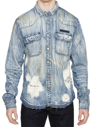 Prps Rip & Repair Denim men's Shirt: US$198.