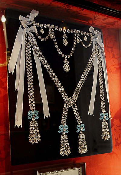 The Queen's Diamond Necklace, reconstruction at Château de Breteuil, 78460 Choisel, France.