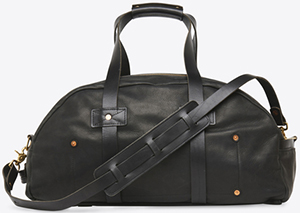 Billy Reid women's Double Zip Duffel - Jet Black: US$895.