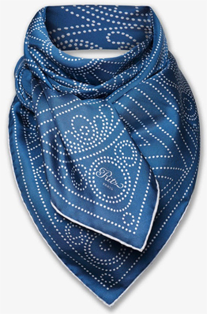 Ritz Paris Essentials Stained Glass Collection, Blue Scarf, 90 × 90 cm: €250.
