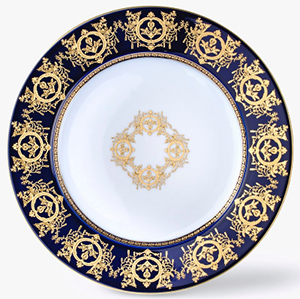 Ritz Paris Essentials Decorated underplate, 'Imperial' Collection, Blue: €244.