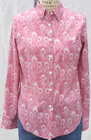Sailor Rose Portland women's shirt in Liberty of London Pink Peacock (Hera): US$172.