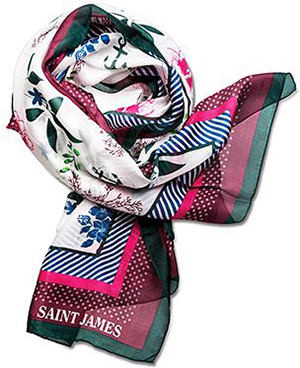 Saint James Foulard Floral women's scarf.