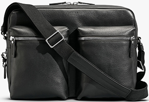Shinola men's Zip Top Messenger: US$950.