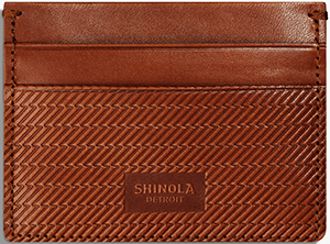 Shinola men's Five Card Card Case: US$150.